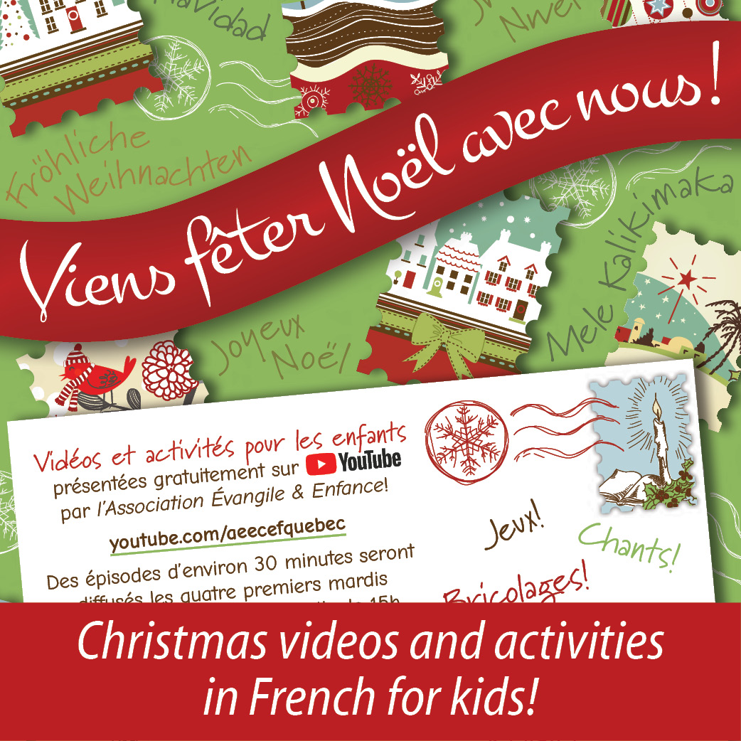 Christmas videos in French for kids