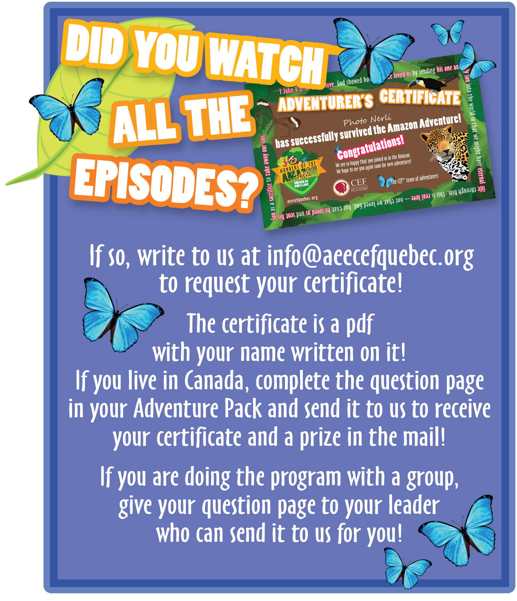 How to receive your certificate