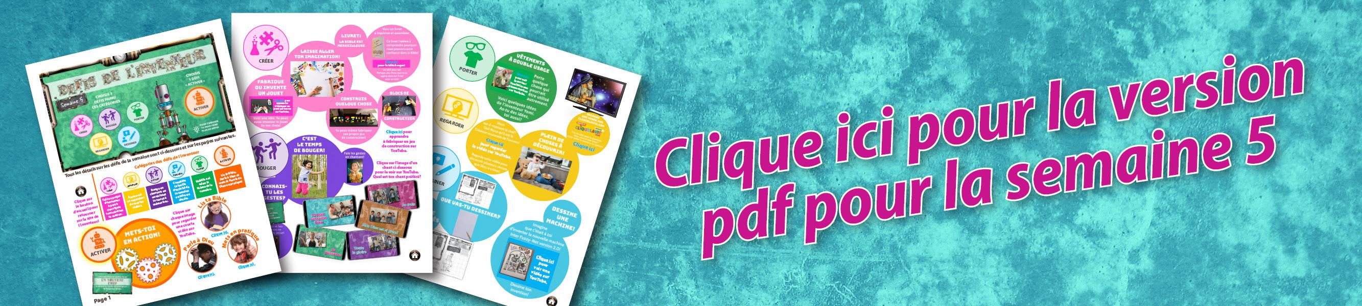 Cliquer pour la version pdf Semaine 5