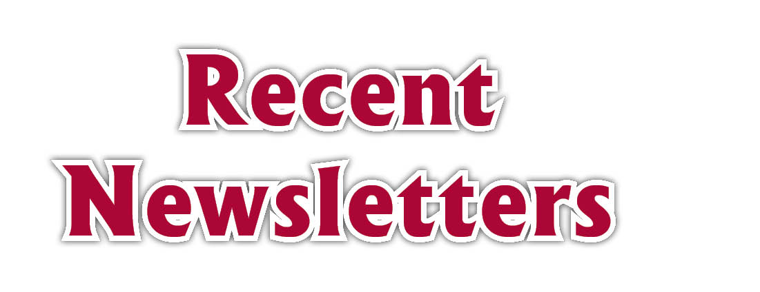 Recent Newsletters